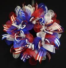 patriotic wreath rwb wreaths memorial or labor day 754