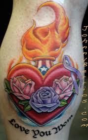 heart tattoo u2013 fabulous heart with roses design tattooshunter com