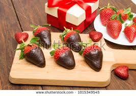 s day strawberries gourmet chocolate covered strawberries valentines day stock photo