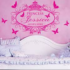 online get cheap wall sticker princess name sleeps here buckoo family stickers princess sleeps here x large name princess girl vinyl wall decals stickers