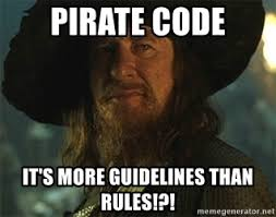 Pirate Meme Generator - pirate code it s more guidelines than rules captain barbossa