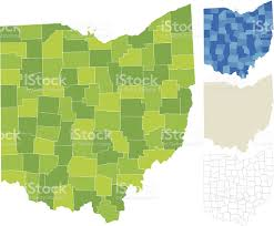 Map Ohio Counties by Ohio County Map Stock Vector Art 150502613 Istock