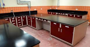 Biology Lab Bench Stainless Steel Laboratory Countertops Edge Grain Maple And Wood