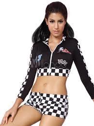 Halloween Costume Race Car Driver Halloween Costume Race Car Driver Checkered Color Block