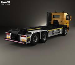 volvo 2010 truck volvo fm 410 skip loader truck 2013 3d model hum3d