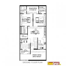 awesome house plan for 25 feet 53 feet plot plot size 147 square