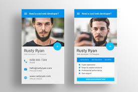 business card resume made material design resume cv template by vinyljunkie