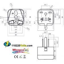 wonpro wa 5 universal to us grounded travel power plug adapter