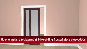 Sliding Glass Closet Doors How To Install Renin U0027s Euro 1 Lite Sliding Bypass Closet Door