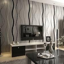chambre papier peint luxe gris beige 3d tv salon chambre papier peint moderne bande