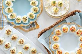 deviled egg platters an easy deviled egg recipe for easter