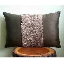 Chocolate Cushion Covers Amazon Com Luxury Brown Lumbar Pillow Cover Textured Ribbon