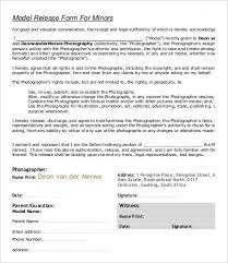 model release form template free model release form template 8 free sle exle format