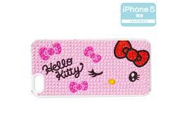 Kitty Iphone 5 Cover Case Hard Type Wink Rhinestone Sanrio