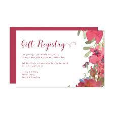 wedding gift card registry in designing registry cards wedding invitations impressive