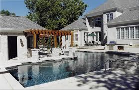 st louis pool house design poynter landscape