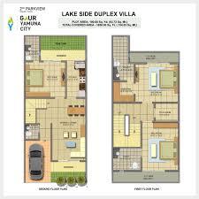Home Design For 100 Sq Yard by Gaur Yamuna City Villas Yamuna Expressway Trisol Red 9873611454