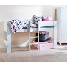 Flexa Bunk Bed Modern White Midsleeper Bed