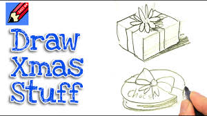 learn how to draw christmas stuff real easy for kids and beginners