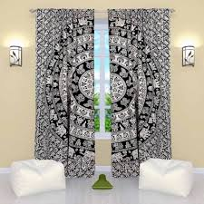 Hippie Curtains Drapes by Tapestry Style Curtains On Sale Boho Mandala Door Curtains Drapes
