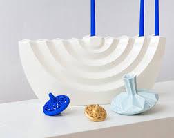 hanukkah decorations sale hanukkah menorahmodern geometric judaicawhite ceramic