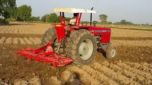 massey ferguson 385 plowing in fields must watch youtube