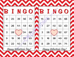 valentines bingo 60 happy valentines day bingo cards by okprintables on zibbet