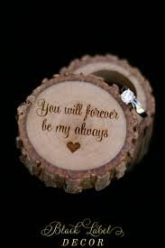 ring holder for wedding you will forever be my always engraved wood wedding ring bearer