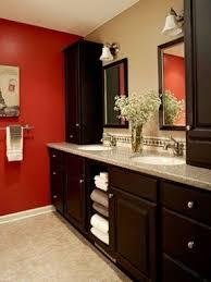 Red Bathroom Cabinets Red Storage Cabinet Foter