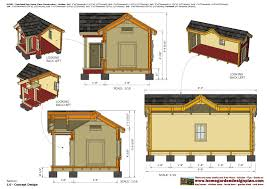 home garden plans dh300 insulated dog house plans construction 17