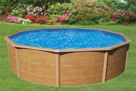 piscine hors sol métal aspect bois colorado 3 20 m triganostore