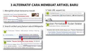 format artikel yang benar wikipedia artikel pertama anda wikipedia bahasa indonesia