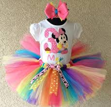 baby minnie mouse pink rainbow birthday tutu