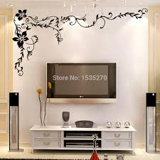wonderful flower vine wall stickers for home tv background wall