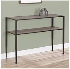 wood and metal sofa table amazon com rustic sofa table modern shuffle transitional metal