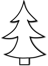 christmas tree clipart black and white christmas lights decoration