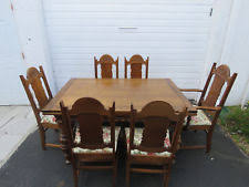 Carved Dining Table And Chairs Antique Dining Sets 1900 1950 Ebay
