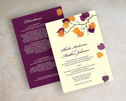 fall wedding invitations fall color wedding invitations kac40 info