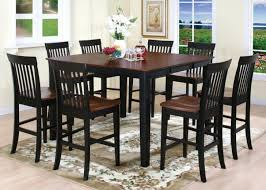 high top pub table set casual dinning room design with high top kitchen pub tables black