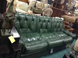 Best Hollywood Regency French Provincial Images On Pinterest - Hunter green leather sofa