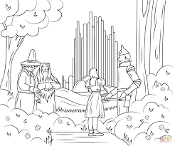free coloring pages wizard of oz coloring pages free also emerald