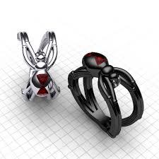 widow wedding ring 11 fabulously geeky wedding rings black widow wars ring