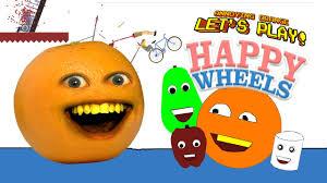 annoying orange happy wheels annoying wheels