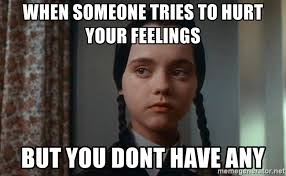 Hurt Feelings Meme - when someone tries to hurt your feelings but you dont have any