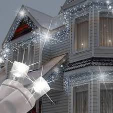 White Icicle Lights Outdoor House Decorative White Led Icicle Lights Led Icicle