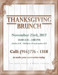 ryde hotel thanksgiving day brunch