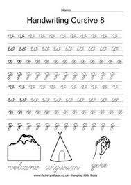 slideshow cursive handwriting practice worksheets a z for