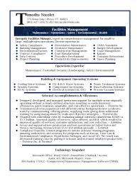 Resume Sample Format For Freshers by Resume Samples Professional Facilities Manager Resume Sample