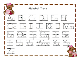 letters to print and trace trace alphabet letters teddy printable alphabet