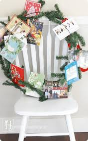 christmas card display holder christmas card display wreath